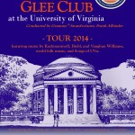 2014 Virginia Glee Club Tour poster